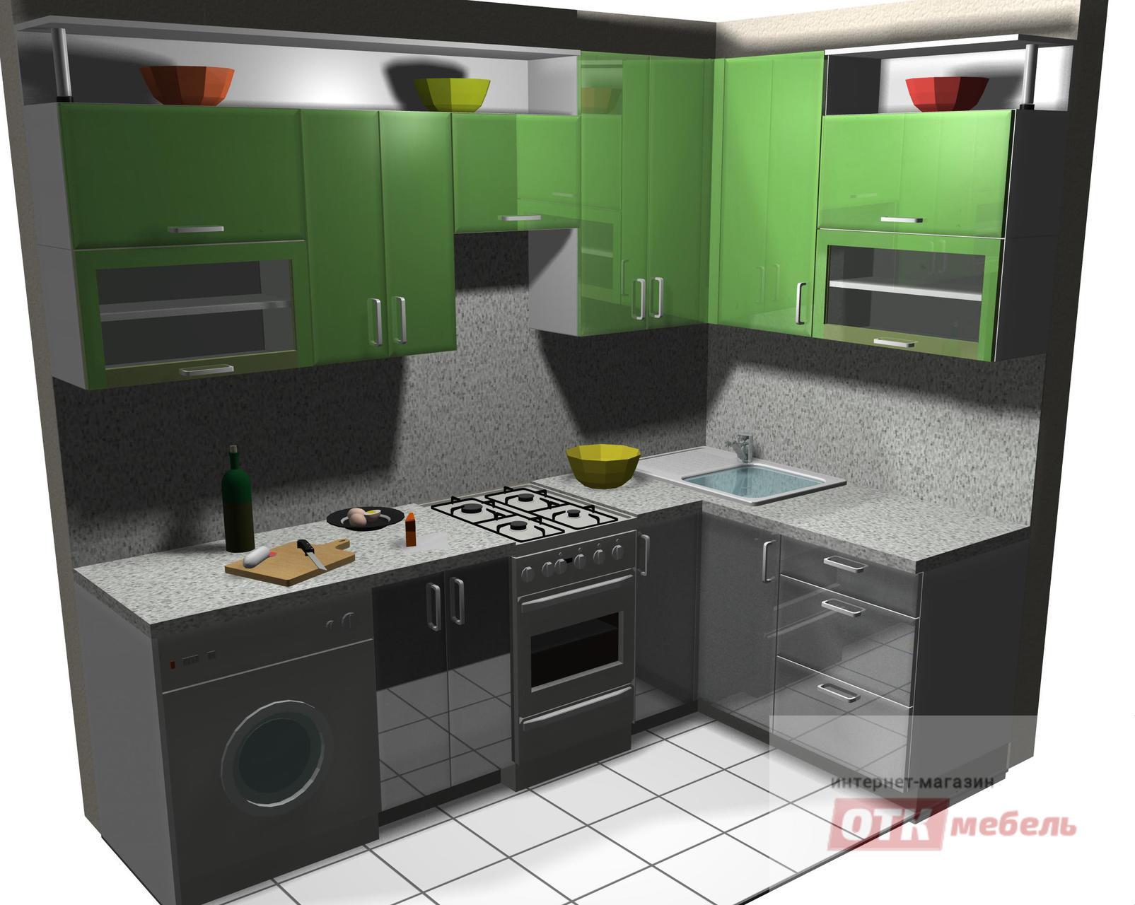 проект угловой кухни 2650х1600
